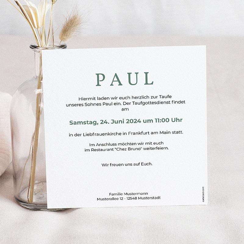 Einladungskarten Taufe Jungen  - Zeitschriften-Stil 46950 thumb