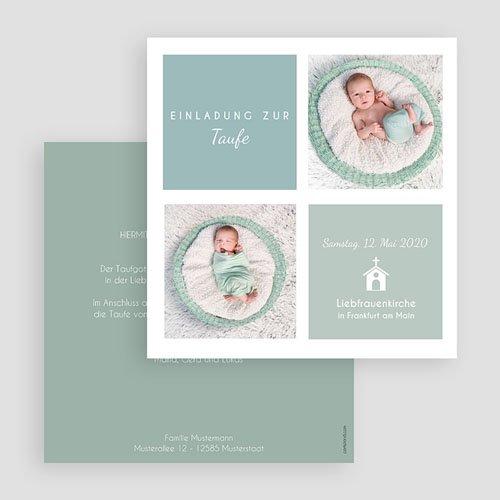 Einladungskarten Taufe Jungen  - Pastellblau 46969 preview