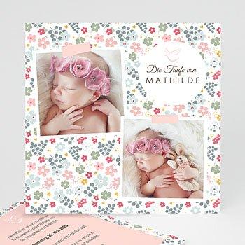Einladungskarten Taufe Mädchen - Liberty Rose - 0
