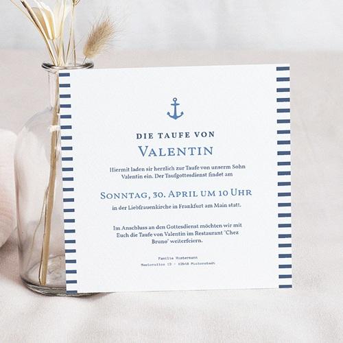 Einladungskarten Taufe Jungen  - Kleiner Seemann 46986 thumb