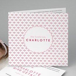 Einladungskarten Taufe Mädchen - Blütentaufe - 0