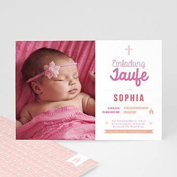 Einladungskarten Taufe Mädchen - Meine Taufzeremonie - 0