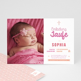 Einladungskarten Taufe Mädchen Meine Taufzeremonie