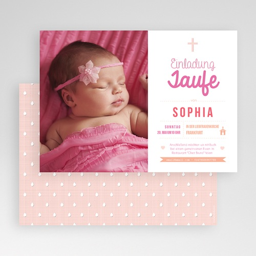 Einladungskarten Taufe Mädchen - Meine Taufzeremonie 47026 thumb