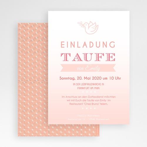 Einladungskarten Taufe Mädchen - Klar Rosa 47035 preview