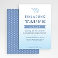 Einladungskarten Taufe Jungen  - Blaues Aquarell 47044 test