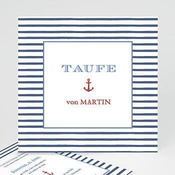 Einladungskarten Taufe Jungen  - Matrose - 0