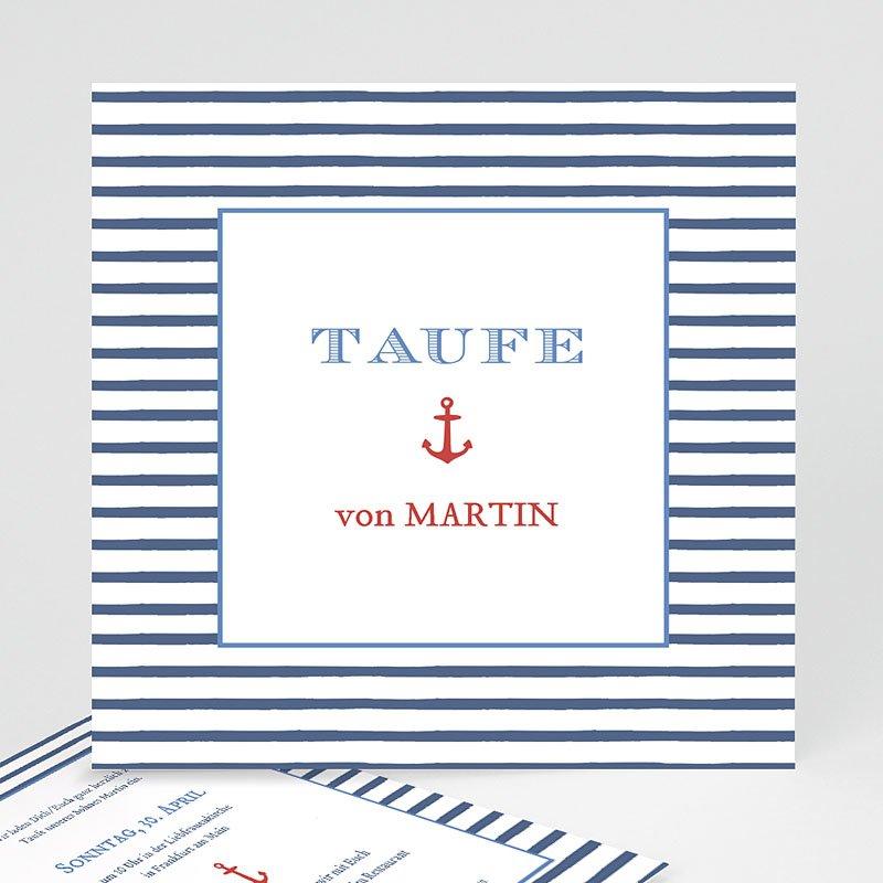 Einladungskarten Taufe Jungen  - Matrose 47051 thumb