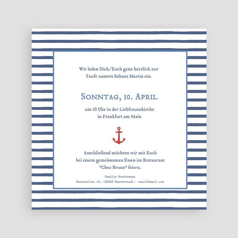 Einladungskarten Taufe Jungen  - Matrose 47052 thumb