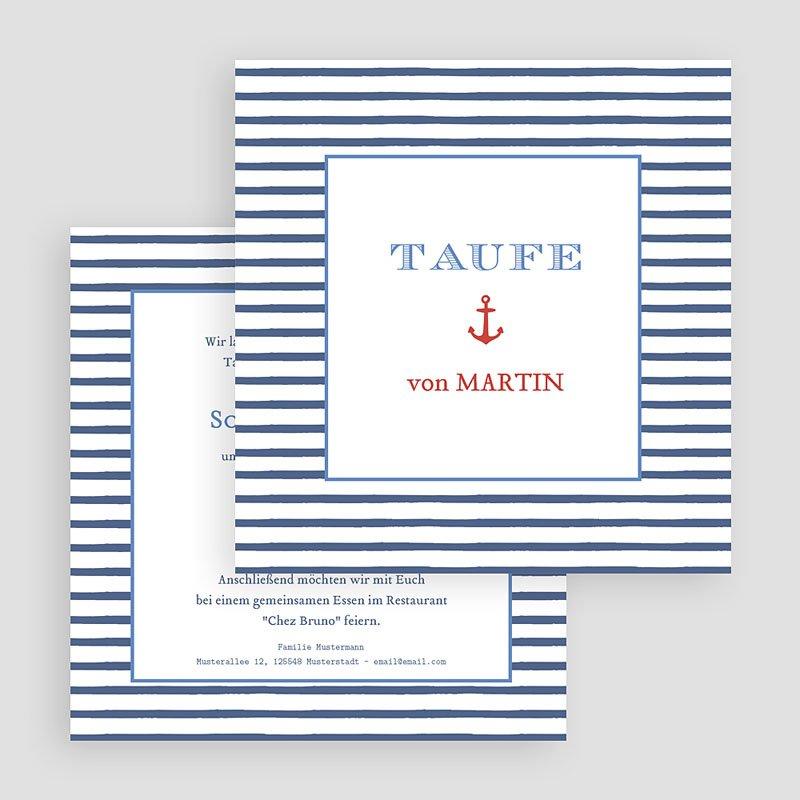 Einladungskarten Taufe Jungen  - Matrose 47053 thumb