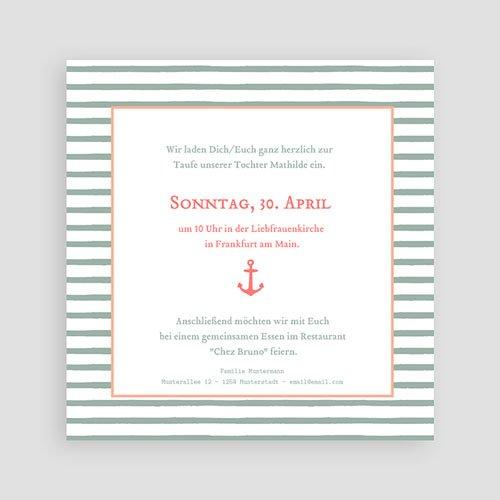 Einladungskarten Taufe Mädchen - Anker 47061 preview