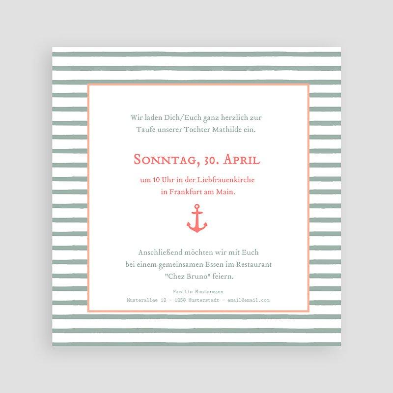 ... Einladungskarten Taufe Mädchen   Anker 47061 Thumb ...