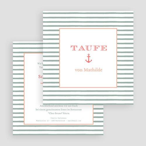Einladungskarten Taufe Mädchen - Anker 47062 preview