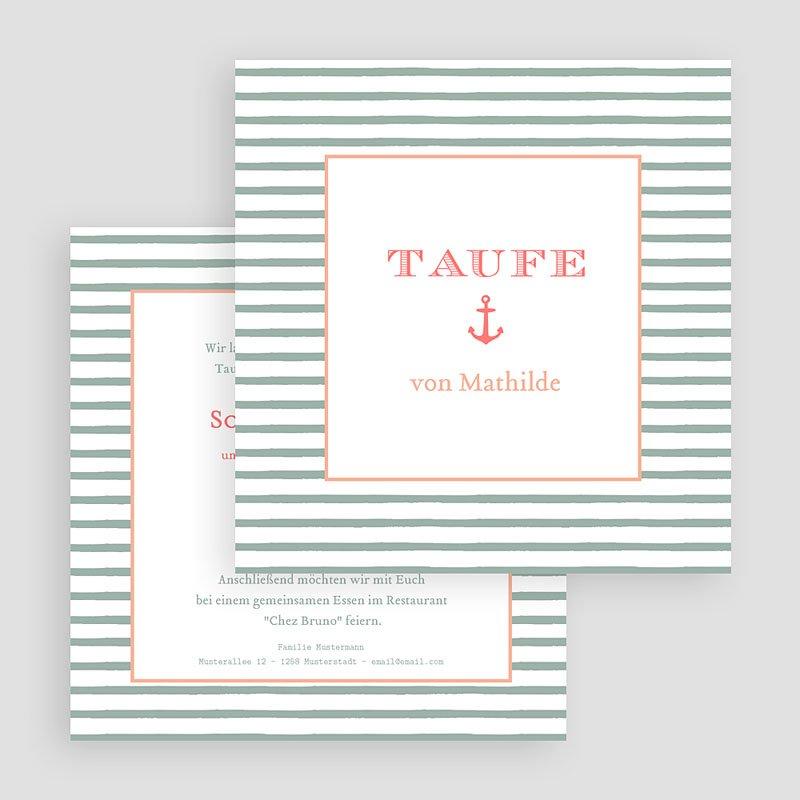 ... Einladungskarten Taufe Mädchen   Anker 47062 Thumb