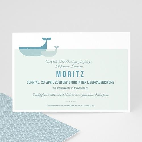 Einladungskarten Taufe Jungen  - Ozean 47069 test