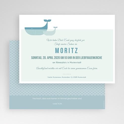 Einladungskarten Taufe Jungen  - Ozean 47071 test