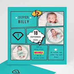 Karten Geburt Super Boy