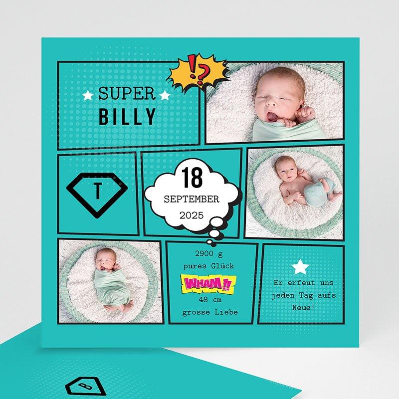 Geburtskarten für Jungen Super Boy