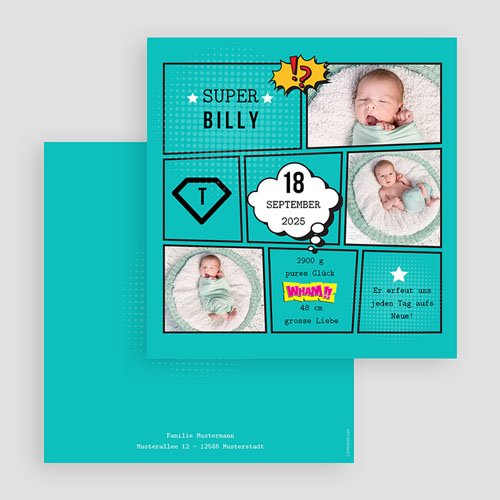 Geburtskarten für Jungen - Super Boy 47080 thumb
