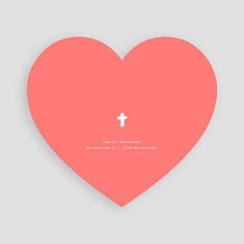 Einladungskarten Taufe für Mädchen Herz aus Kreide pas cher