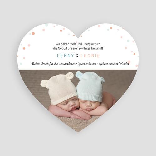 Babykarten für Zwillinge gestalten - Doppeltes Glück 47179 preview