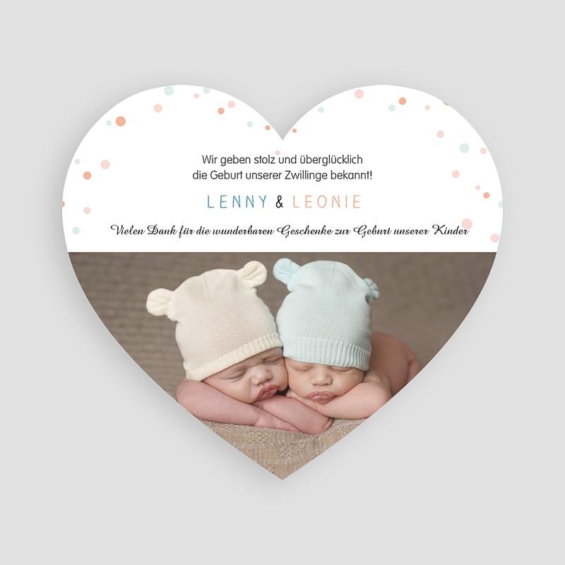 Geburtskarten mit Kaninchen Doppeltes Glück pas cher