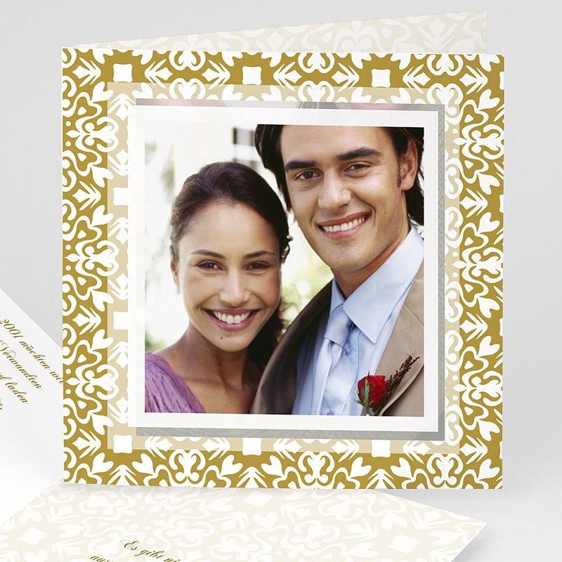 Orientalische Hochzeitskarten  Goldene Eleganz