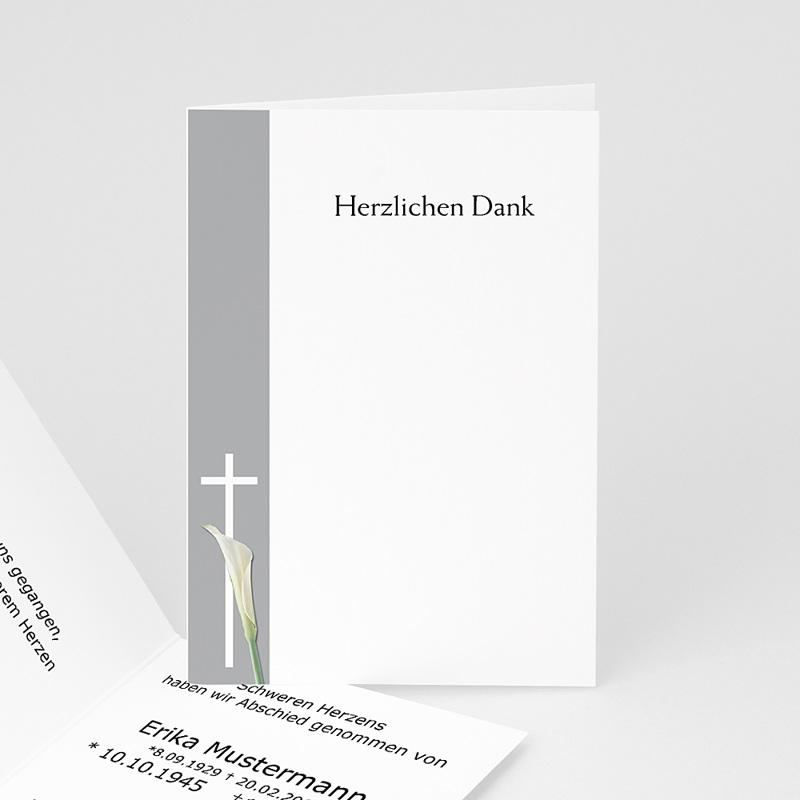 Christlich Dankeskarten Trauer Trauerblume
