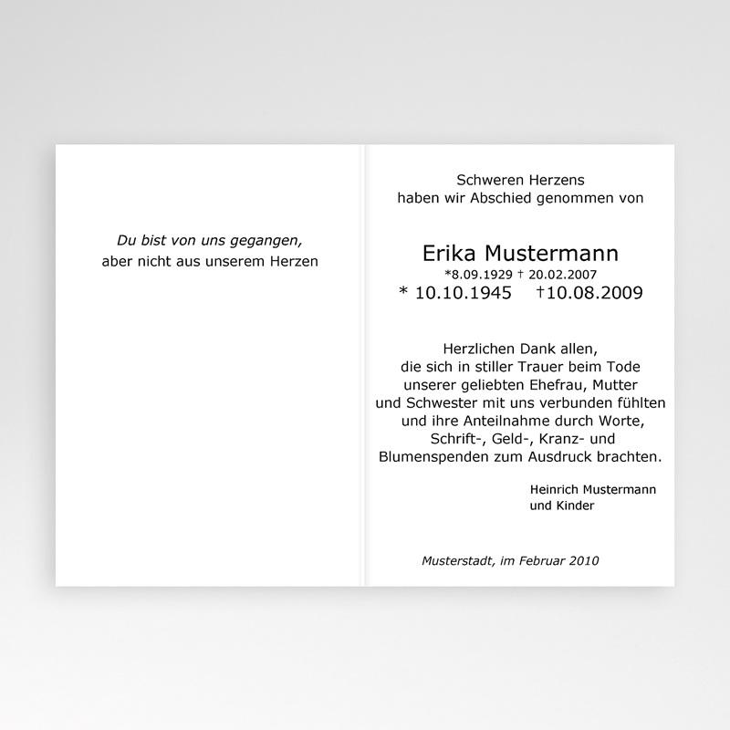Christlich Dankeskarten Trauer Trauerblume pas cher