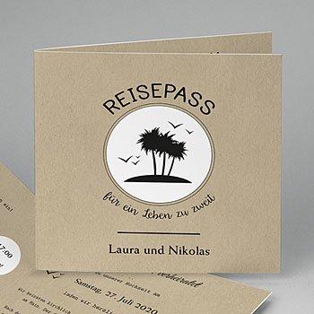 Hochzeitskarten Reisen - Reisepass ins Glück - 0