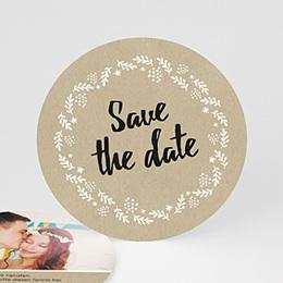 Save The Date  - Schlichte Blumenkrone - 0
