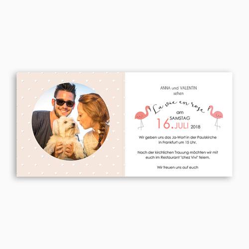 Hochzeitseinladungen modern - Rosaflamingo 47314 test