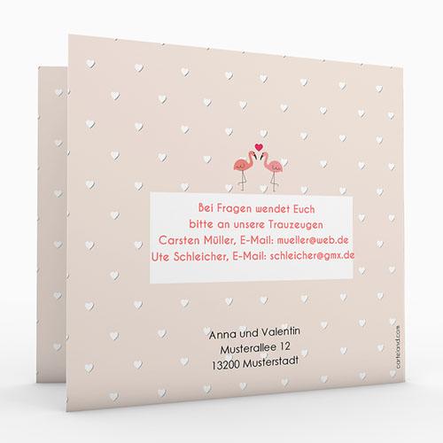 Hochzeitseinladungen modern - Rosaflamingo 47315 test