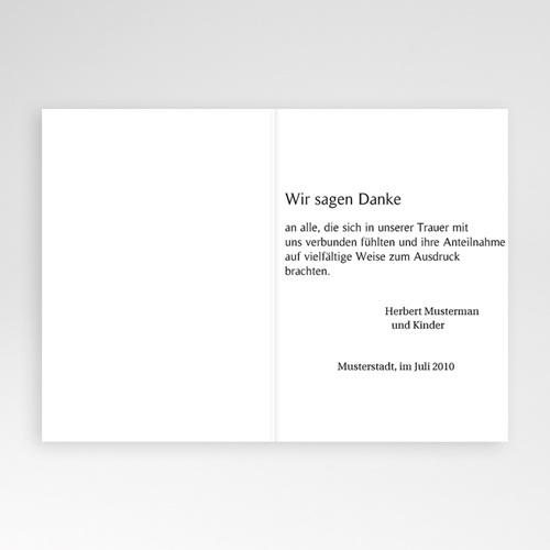 Trauer Danksagung christlich - Klappkarte Kreuz - grau 4733 test