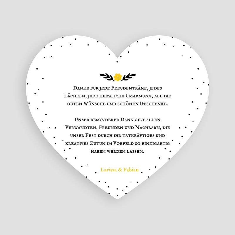 Alle Dankeskarten Hochzeit Herzform pas cher