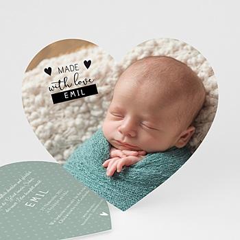 Geburtskarten für Jungen - Made with love - 0