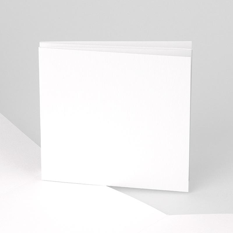 Blanko Hochzeitseinladungen Akkordeon 10,4 cm x 9,9 cm