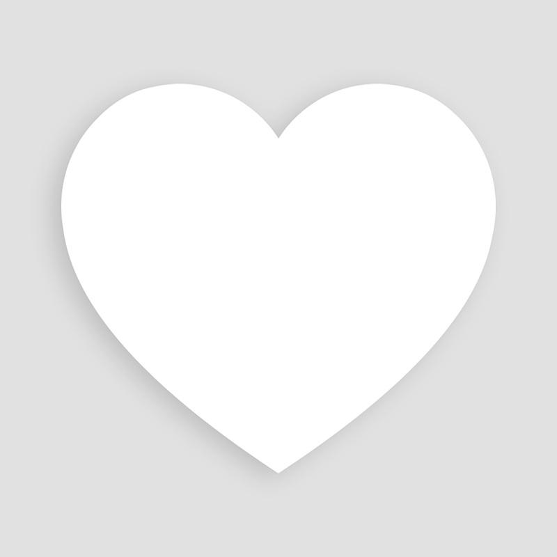 Blanko Hochzeitseinladungen 14 cm x 13 cm pas cher