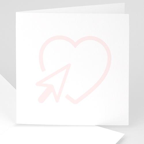 Blanko Hochzeitseinladungen - 14 cm x 14 cm 47615