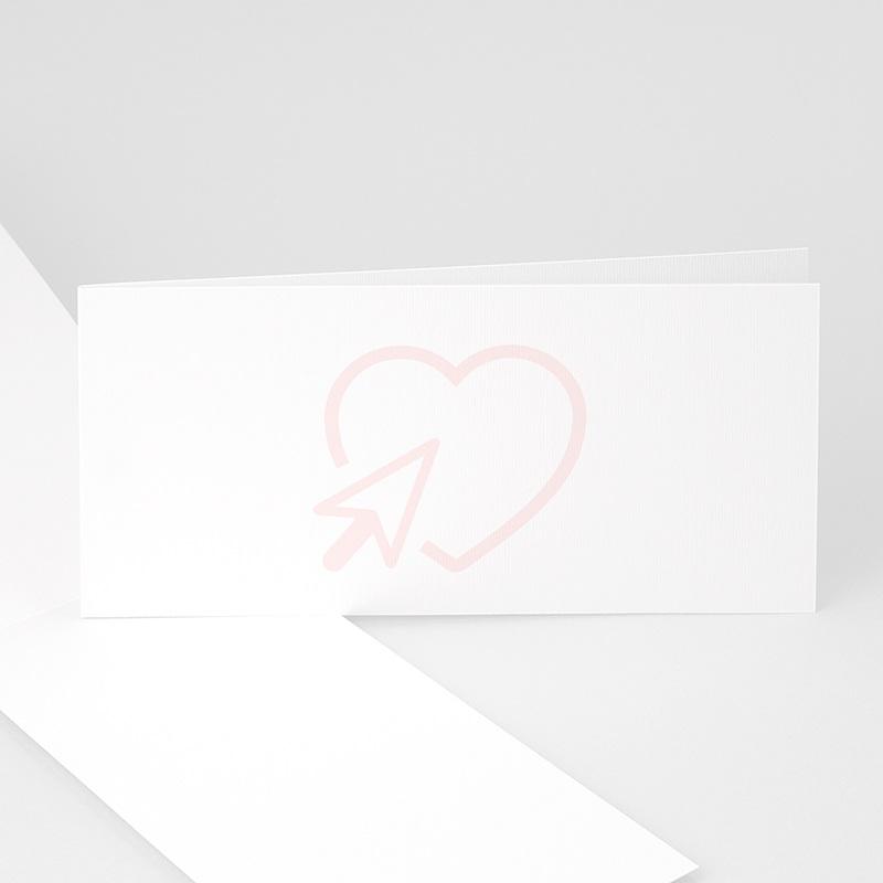 Blanko Hochzeitseinladungen 20.8 cm x 9.9 cm