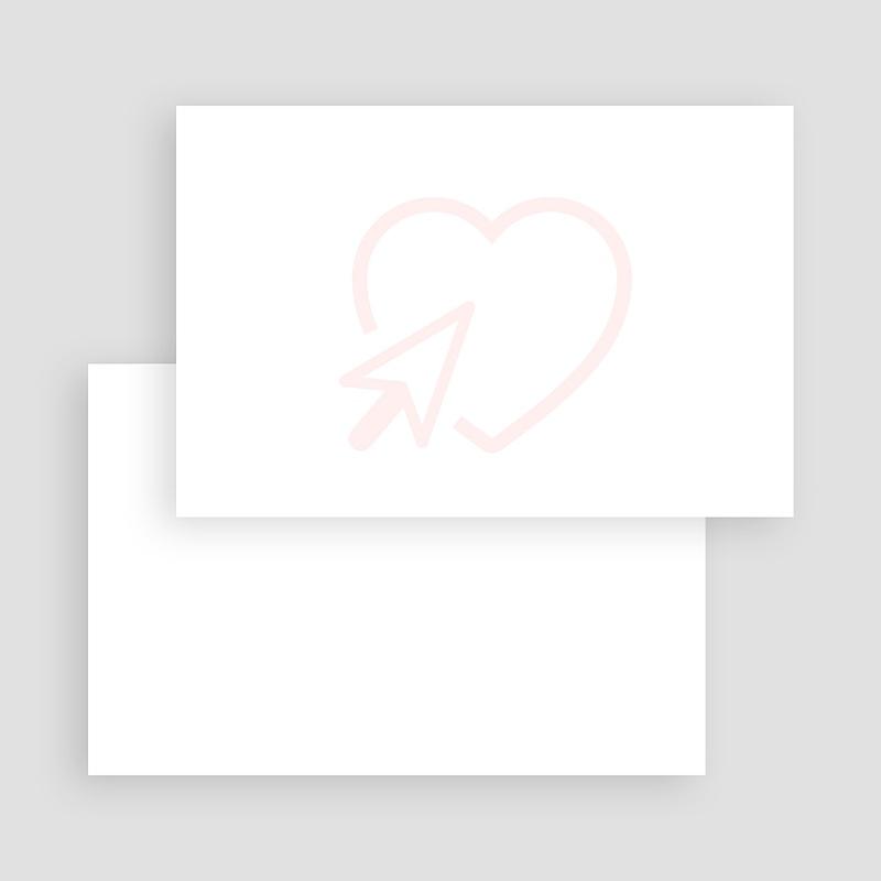 Blanko Hochzeitseinladungen 15 cm x 10 cm gratuit