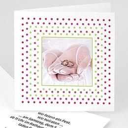 Hochzeitskarten mit Foto Konfettiregen