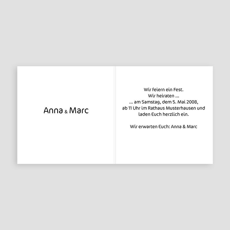 Hochzeitseinladungen mit Foto Konfettiregen pas cher