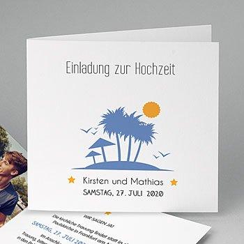Einladungskarten Hochzeit  - Unter Palmen - 0