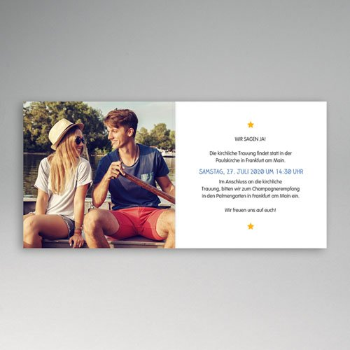 Hochzeitseinladungen modern - Unter Palmen 47784 preview