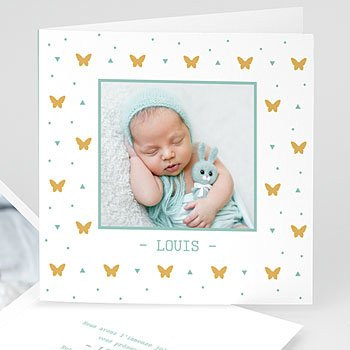 Babykarten für Jungen - Unser Schmetterling - 1