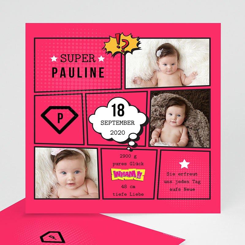 Geburtskarten für Mädchen Super Girl