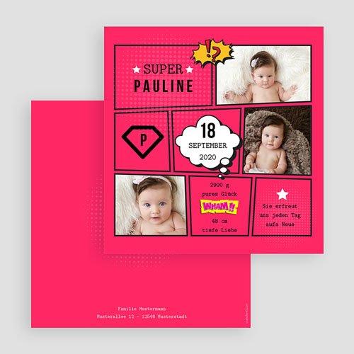 Geburtskarten für Mädchen Super Girl gratuit