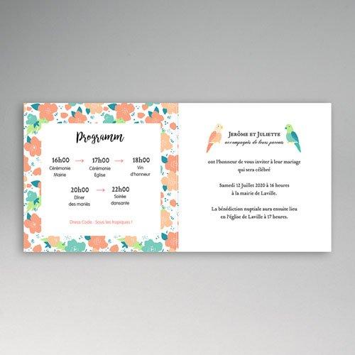 Einladungskarten Hochzeit  - Lovebirds 47867 test