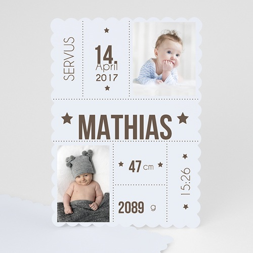 Geburtskarten für Jungen - Eckdaten 47976 test